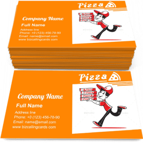 Fast Pizza Delivery Business Card Template