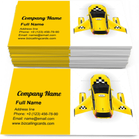 Fast taxi with wings Business Card Template