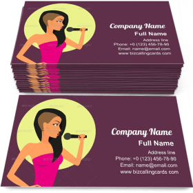 Female Rock Singer Business Card Template