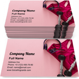 Female sport clothing Business Card Template