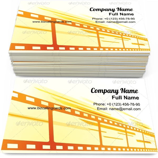 Sample of Film Background calling card design for advertisements marketing ideas and promote premiere branding identity