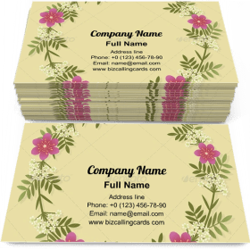 Floral frame Wreath Business Card Template