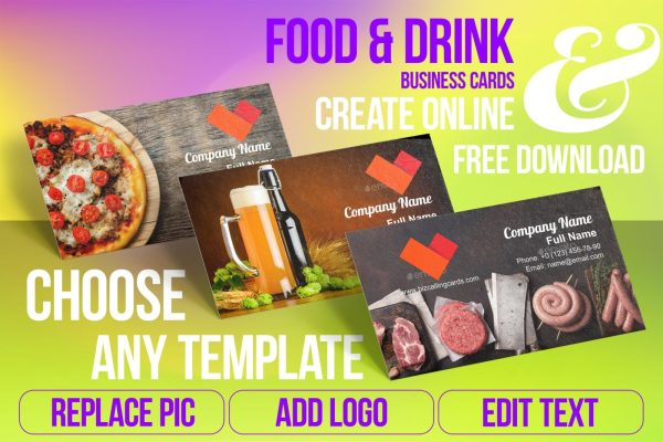 Business Card Templates For Food & Drink Free Download
