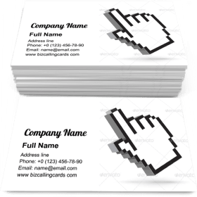 Hand Arrow Cursor Business Card Template