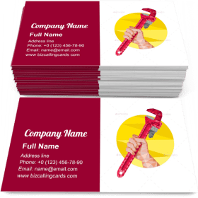 Hand Holding Wrench Business Card Template
