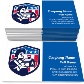 House Flag Crest Business Card Template