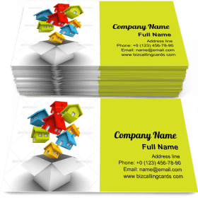 Houses as a Gift Business Card Template