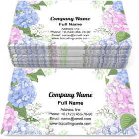 Hydrangea Floral Frame Business Card Template