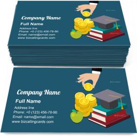 Invest in Education Business Card Template