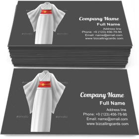 Kimono Woman Dress Business Card Template