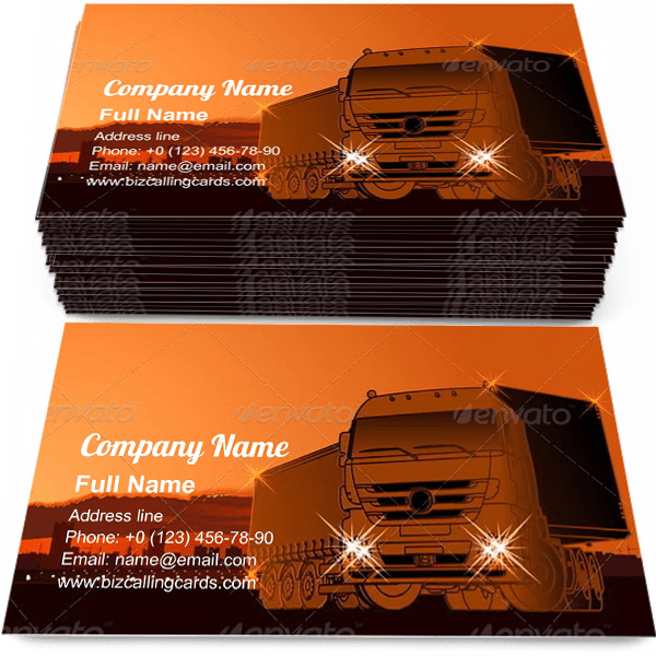 Sample of Logistics Theme calling card design for advertisements marketing ideas and promote delivering branding identity