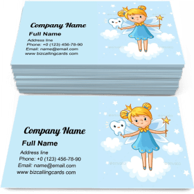 Lovely Fairy with a Tooth Business Card Template