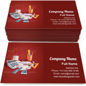 Math Science Concept Business Card Template