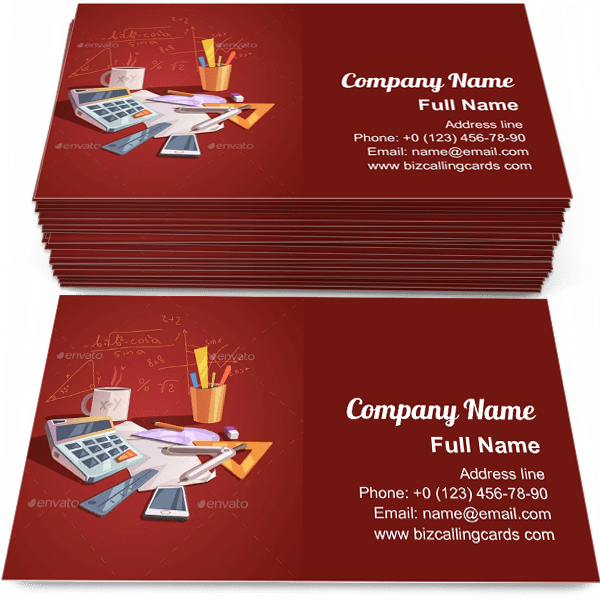 Sample of Math Science Concept calling card design for advertisements marketing ideas and promote learning branding identity