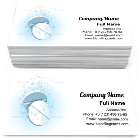 Medicine Pills in Water Business Card Template