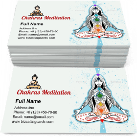 Meditation with Chakras Business Card Template