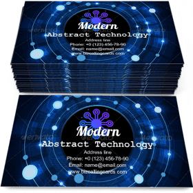 Modern Abstract technology Business Card Template