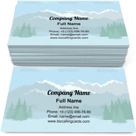 Mountains and Blue Sky Business Card Template