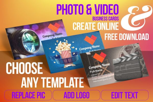 Business Card Templates For Photo & Video Free Download