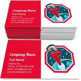 Pipe Wrench Rocket Business Card Template