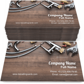 Plumbing Tools for plumber Business Card Template