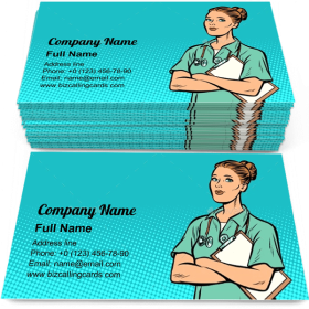 Pop Art Nurse Business Card Template