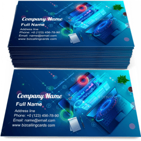 Programming software Business Card Template