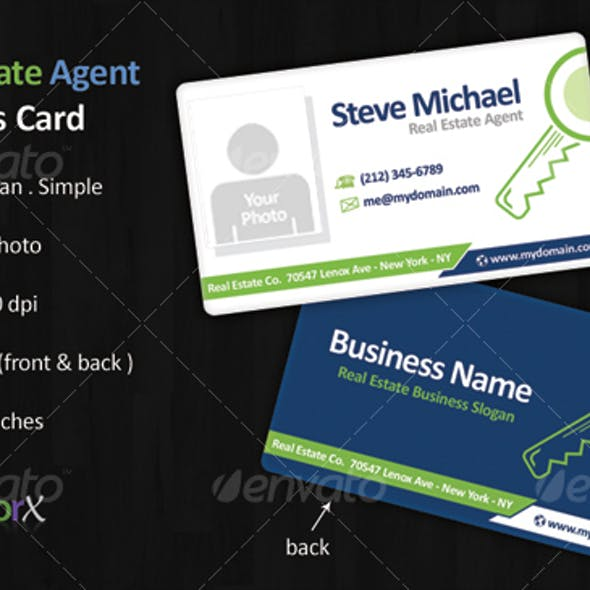 Real Estate Agent Business Card Template Free Download