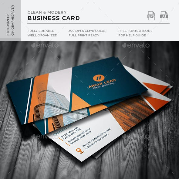 Real Estate agency Business Card Free Download