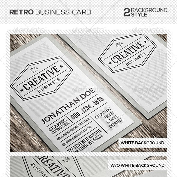 Retro Vintage Business Card Free Download