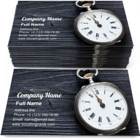 Retro pocket watch Business Card Template