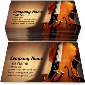 Cello for Music Melody Business Card Template