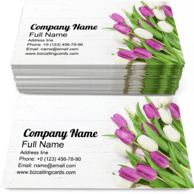 Colorful Flower Bouquet Business Card Template
