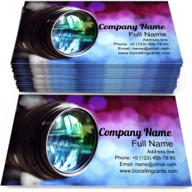Digital Camera Lens Business Card Template