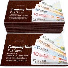 Euro Money Exchange Business Card Template