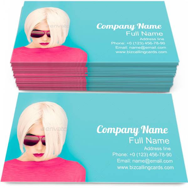 Sample of Blond Model calling card design for advertisements marketing ideas and promote Fashion branding identity
