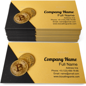 Gold Bitcoin Currency Business Card Template