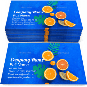 Smoothie Exotic Fruits Business Card Template