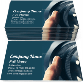 Using Camera Zoom Business Card Template