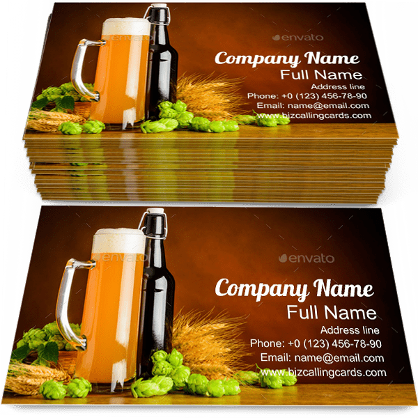 Sample of Beer Ingredients calling card design for advertisements marketing ideas and promote Wheat branding identity