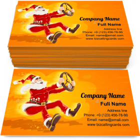 Santa Claus Driver Business Card Template