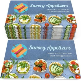 Savory appetizers or canapes Business Card Template