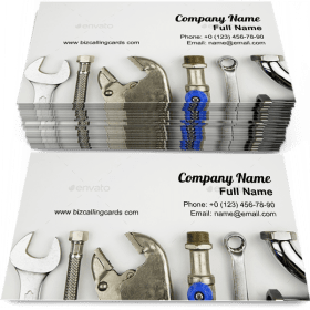 Set of plumber tools Business Card Template