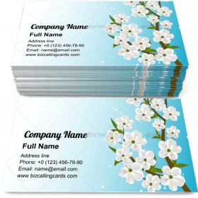 Spring tree flourishes Business Card Template