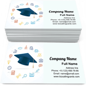 Square academic cap Business Card Template