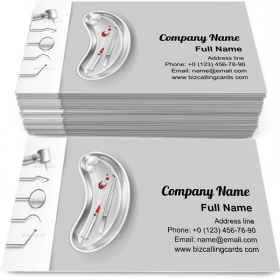 Stainless Dental Tools Business Card Template