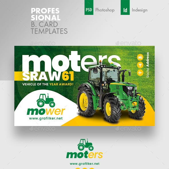 Vehichle Mower Business Card Templates Free Download