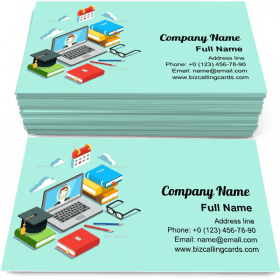 Video instruction Business Card Template