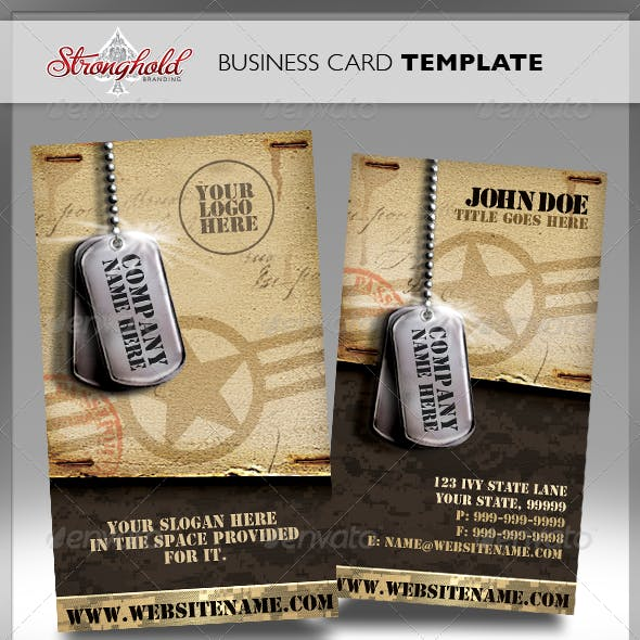 Vintage Military Business Card Free Download