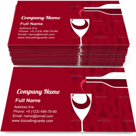 Wine pouring into a glass Business Card Template